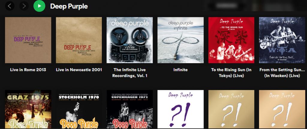 Deep Purple в американском Spotify