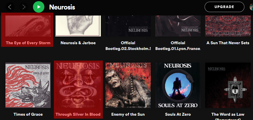 Neurosis в американском Spotify