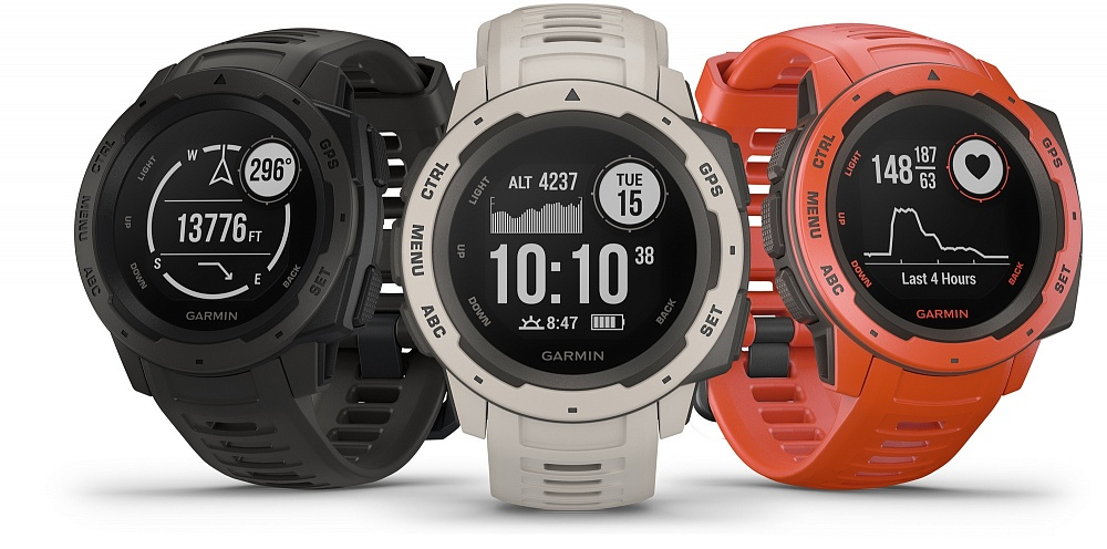 Garmin Fenix 5X Plus и Garmin Instinct
