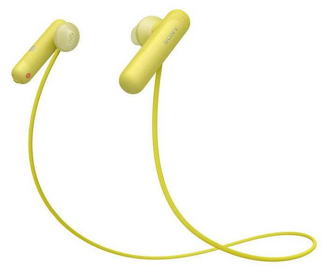 Наушники Sony WI-SP500 Yellow - рис.4