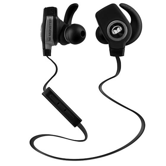 Беспроводные наушники MONSTER ISPORT BLUETOOTH WIRELESS SUPERSLIM IN-EAR (Black)