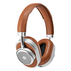 Беспроводные наушники MASTER&DYNAMIC MW65 Silver Metal / Brown Leather