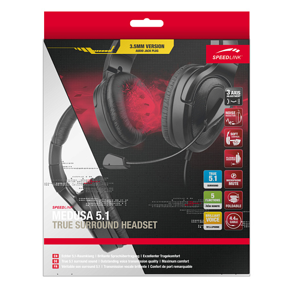 Игровая гарнитура Speedlink MEDUSA 5.1 True Surround Headset - рис.4