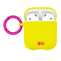 Чехол для Airpods Case-Mate AirPods Hook Ups Case & Neck Strap Lemon
