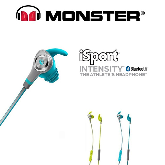 Беспроводные наушники Monster iSport Intensity In-Ear Wireless Blue - рис.2