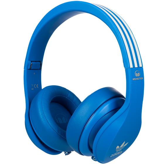 Наушники MONSTER ADIDAS® ORIGINALS OVER EAR HEADPHONES (BLUE) - рис.1
