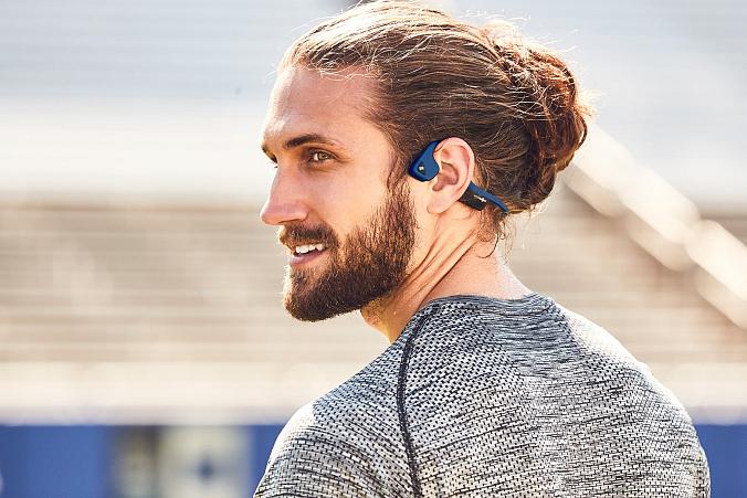 Midnight Blue AS650MB AfterShokz Trekz Air Open Ear Wireless Bone Conduction Headphones