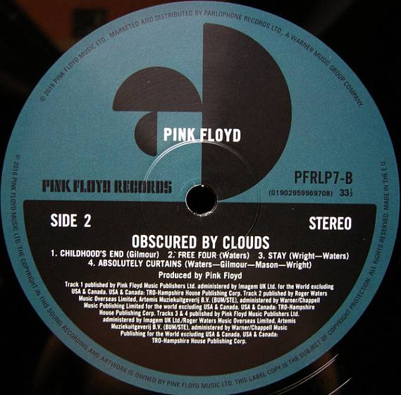 Пластинка Pink Floyd - Obscured By Clouds - рис.3