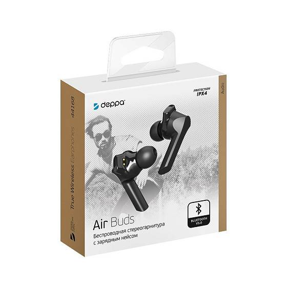 Наушники Deppa Air Buds Black - рис.6