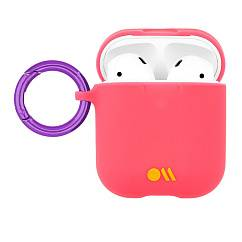 Чехол для Airpods Case-Mate AirPods Hook Ups Case & Neck Strap Living Coral Light Pink