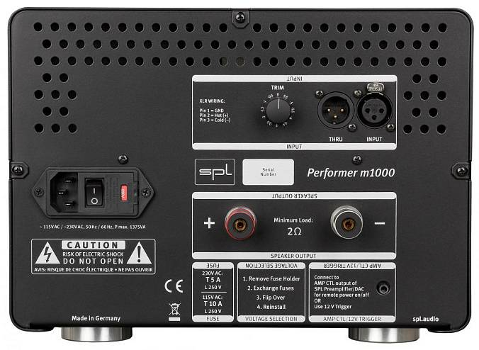 Усилитель SPL Performer m1000 Red - рис.3