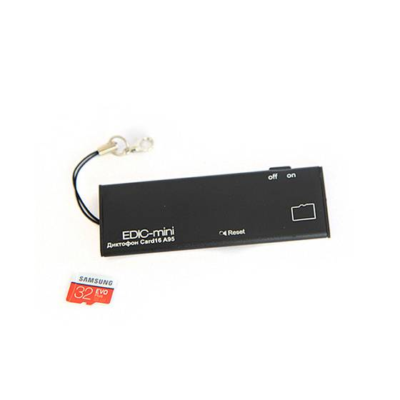 Диктофон EDIC-mini Card16 A95 black