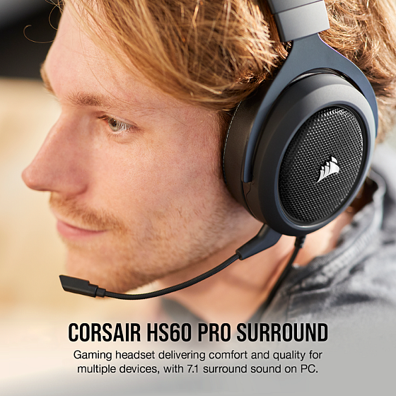 Игровые наушники Corsair Gaming HS60 Pro Surround Carbon - рис.9