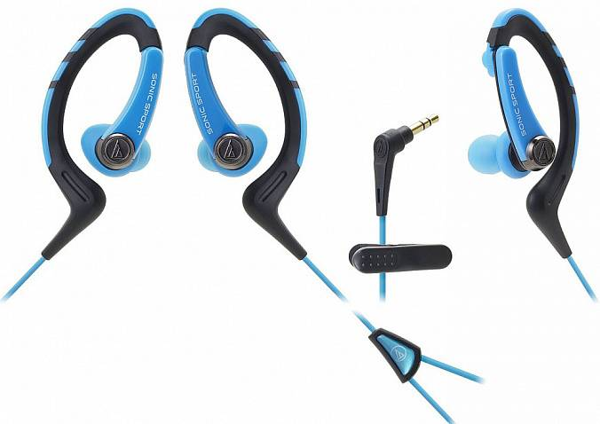Наушники AUDIO-TECHNICA ATH-SPORT1 Blue - рис.4