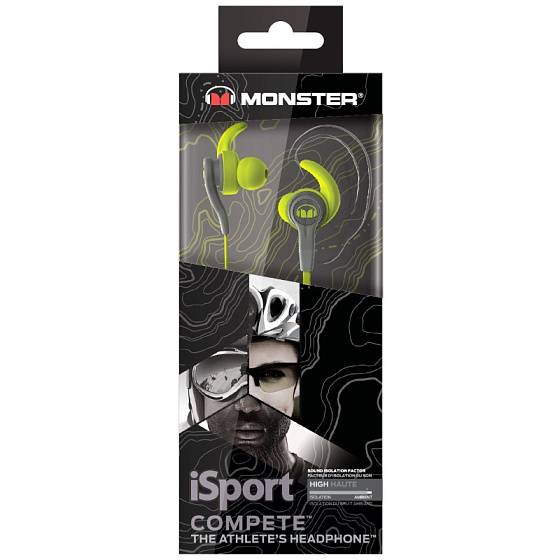 Наушники MONSTER ISPORT Compete IN-EAR (Green) - рис.3