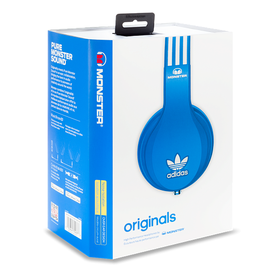 Наушники MONSTER ADIDAS® ORIGINALS OVER EAR HEADPHONES (BLUE) - рис.6