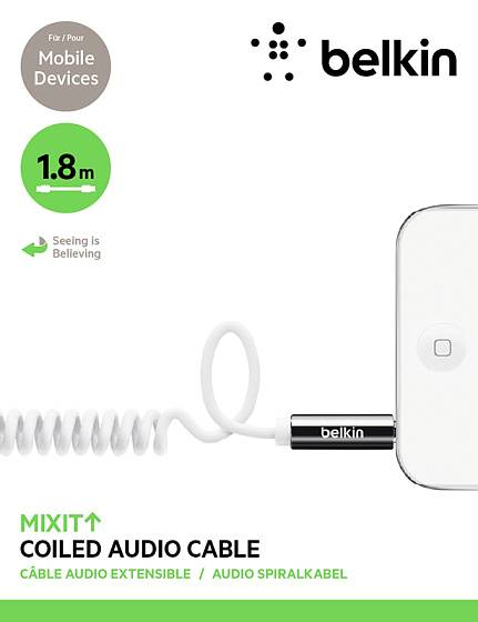 Кабель Belkin Mixit Coiled Audio Cable Green - рис.2