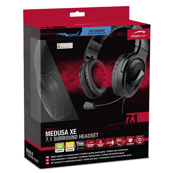 Игровая гарнитура Speedlink MEDUSA XE Virtual 7.1 Surround Headset - рис.3
