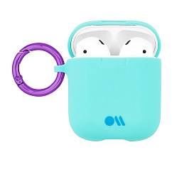 Чехол для Airpods Case-Mate AirPods Hook Ups Case & Neck Strap Aqua Blue