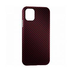 Чехол для смартфонов Lyambda Annet Mancini Carbon Series for iPhone 12 и 12 Pro Matte Red