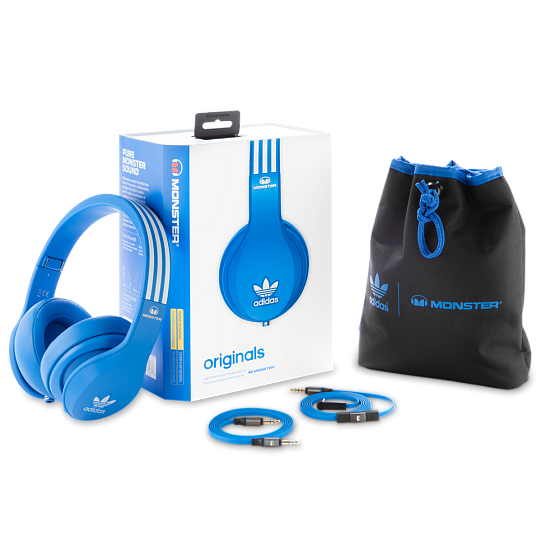 Наушники MONSTER ADIDAS® ORIGINALS OVER EAR HEADPHONES (BLUE) - рис.8
